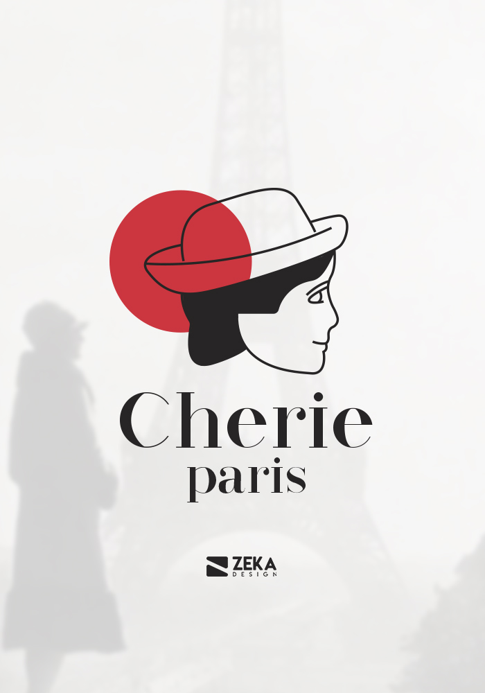 Cherie Paris Logo Design and Brand Identity Concept