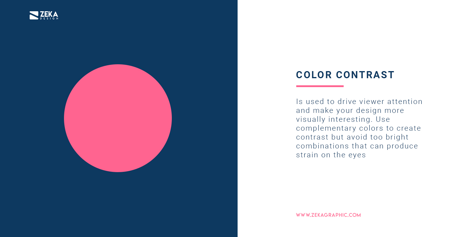 How To Use Color Contrast in Graphic Design
