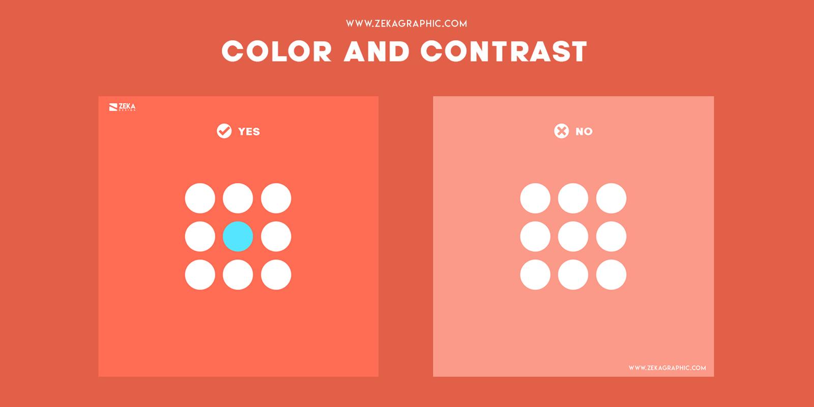 Color and Contrast Visual Hierarchy Principles in Graphic Design