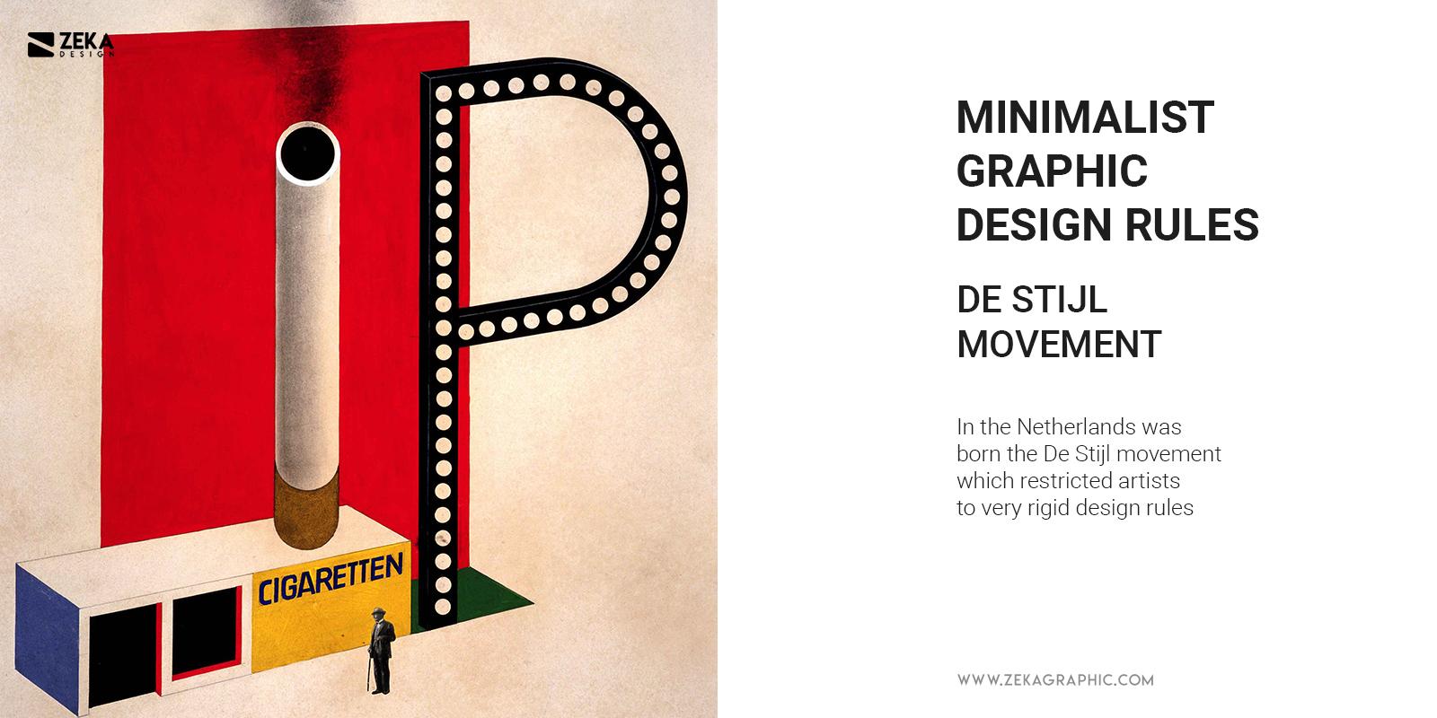 De Stijl Minimalist Graphic Design Rules
