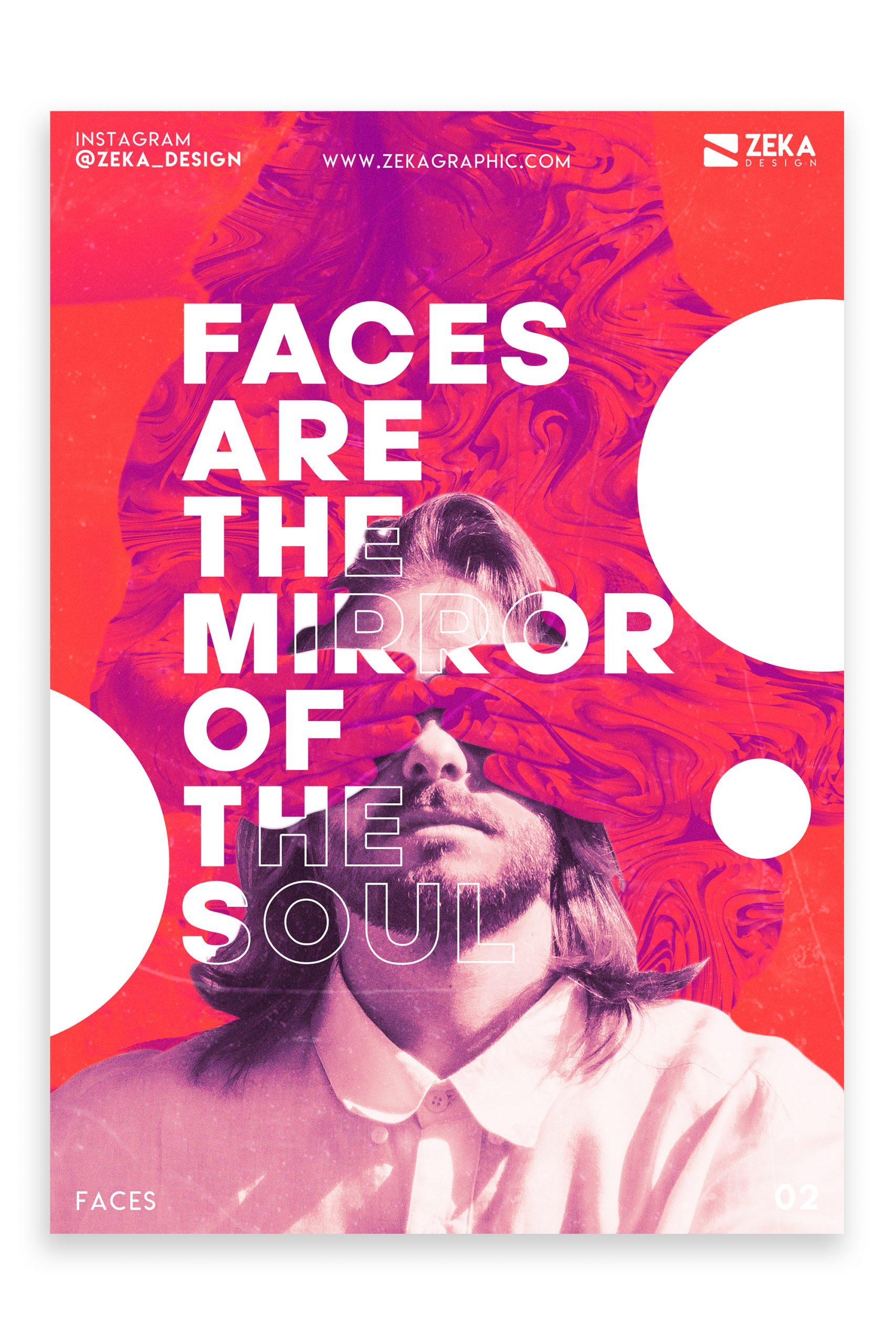 Faces Poster Design Inspiration Graphic Design Portfolio 2
