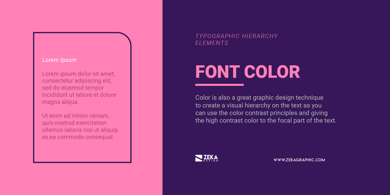 Font Color for Typographic Hierarchy in Graphic Design