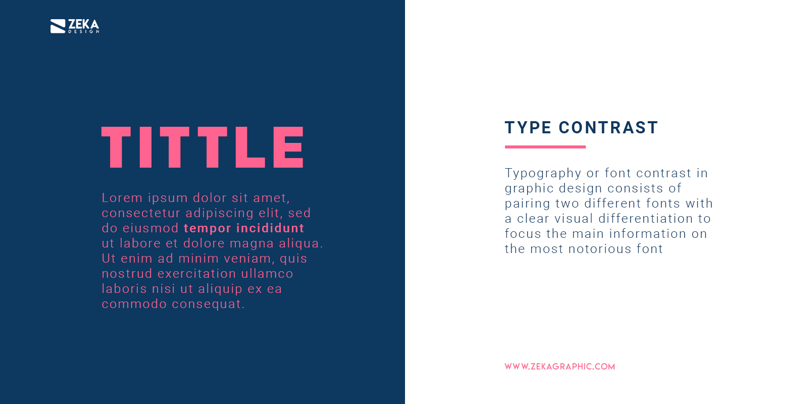 How To Use Font Contrast in Graphic Design