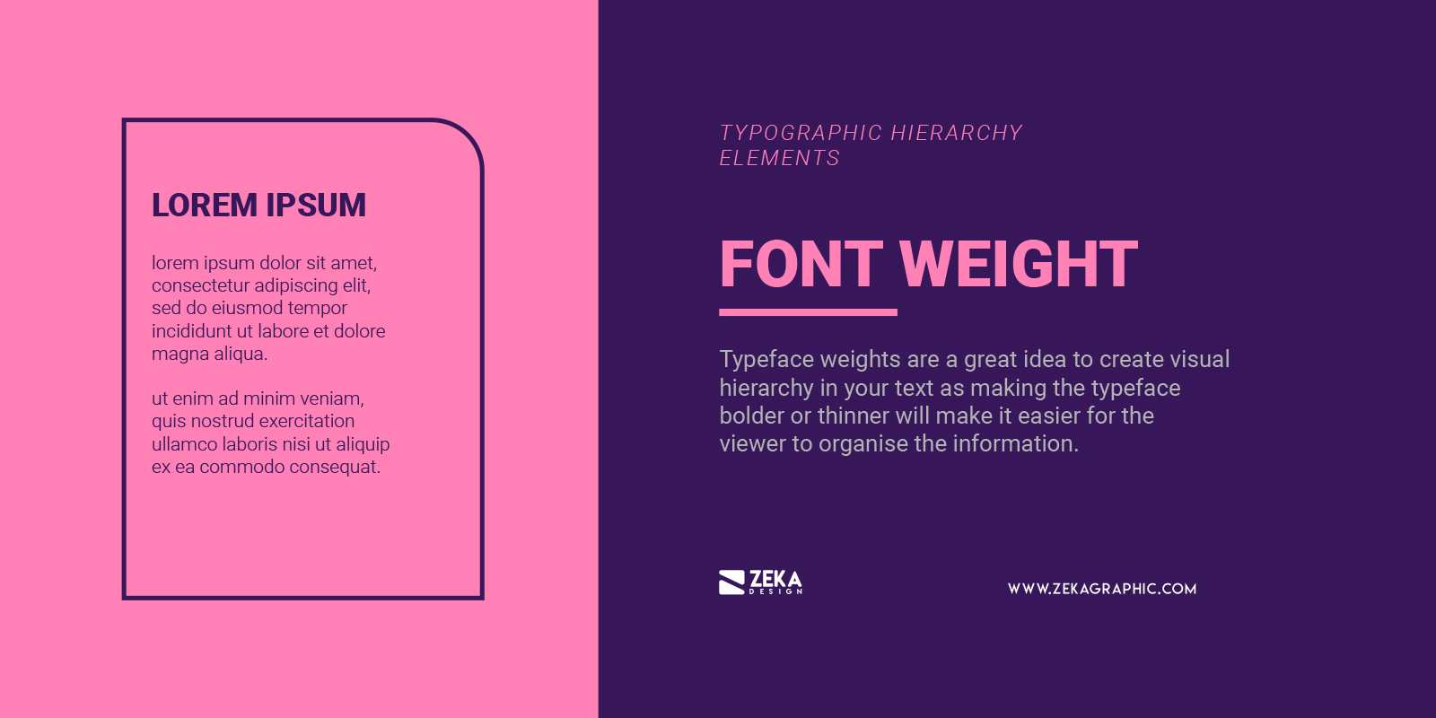Font Weight for Typographic Hierarchy