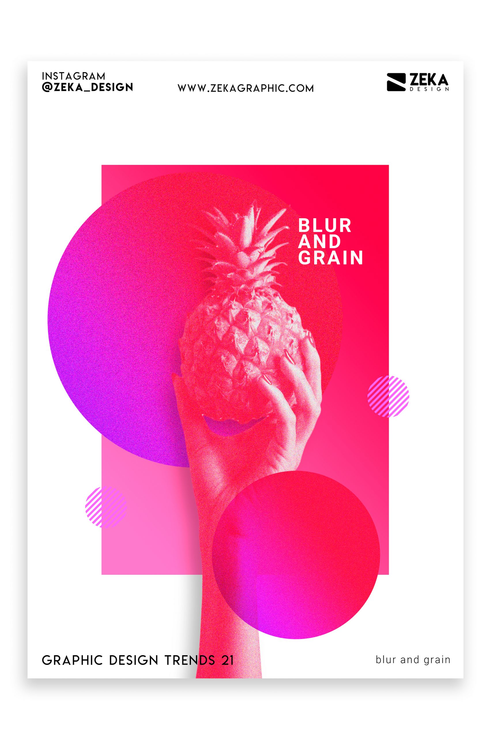 Graphic Design Trends 2021 Blur and Grain Poster