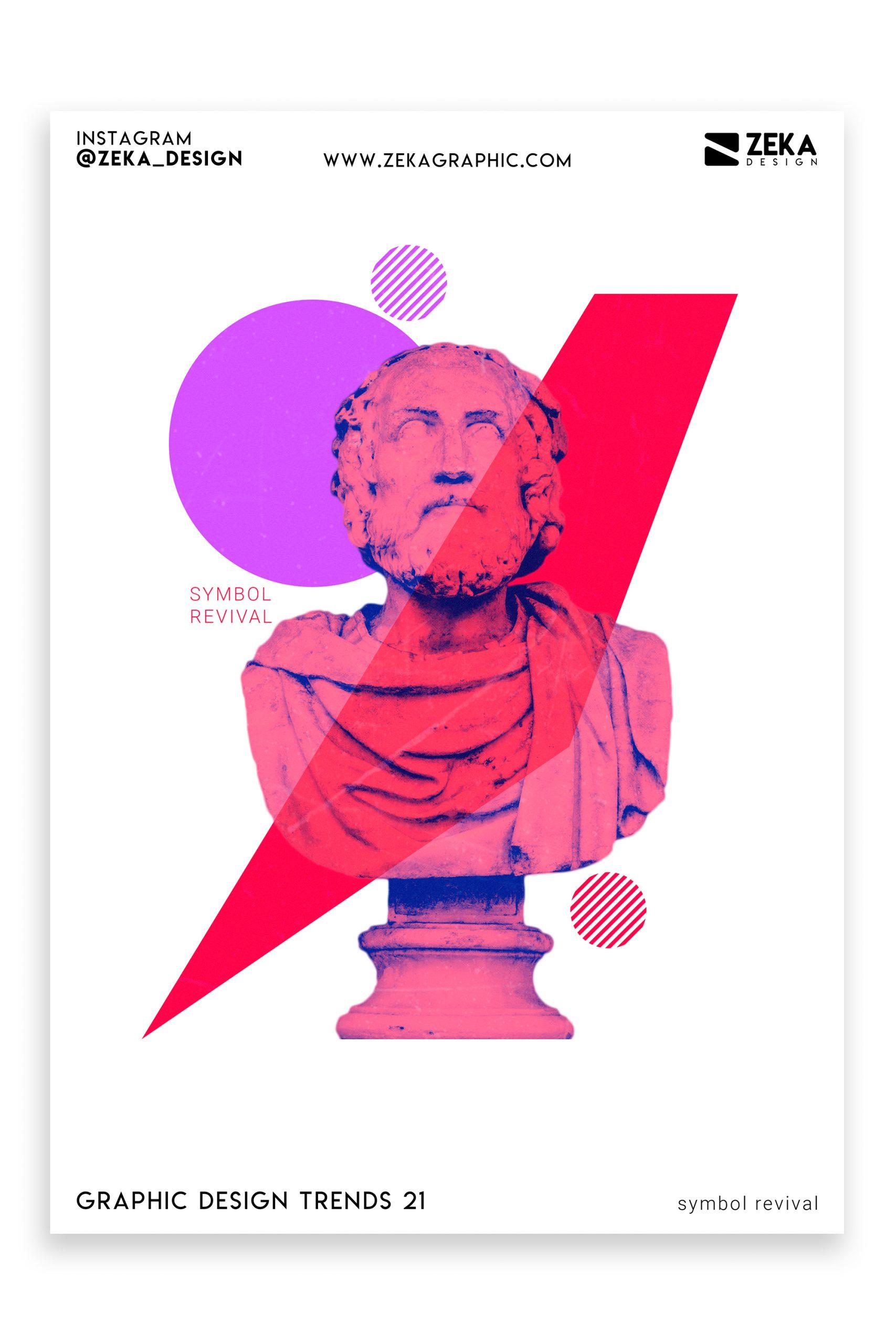 Graphic Design Trends 2021 Symbol Revival Poster