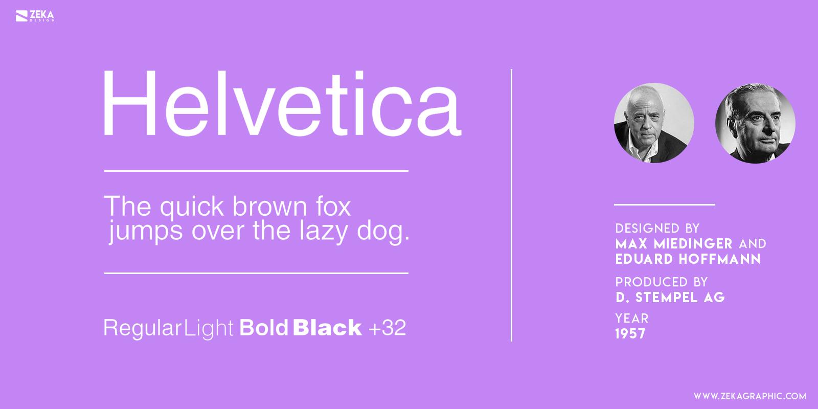 Helvetica Typography History 1950 Typefaces