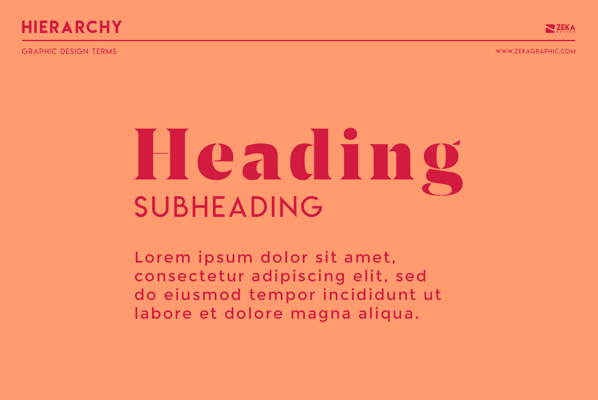 Hierarchy Typography Graphic Design Terms