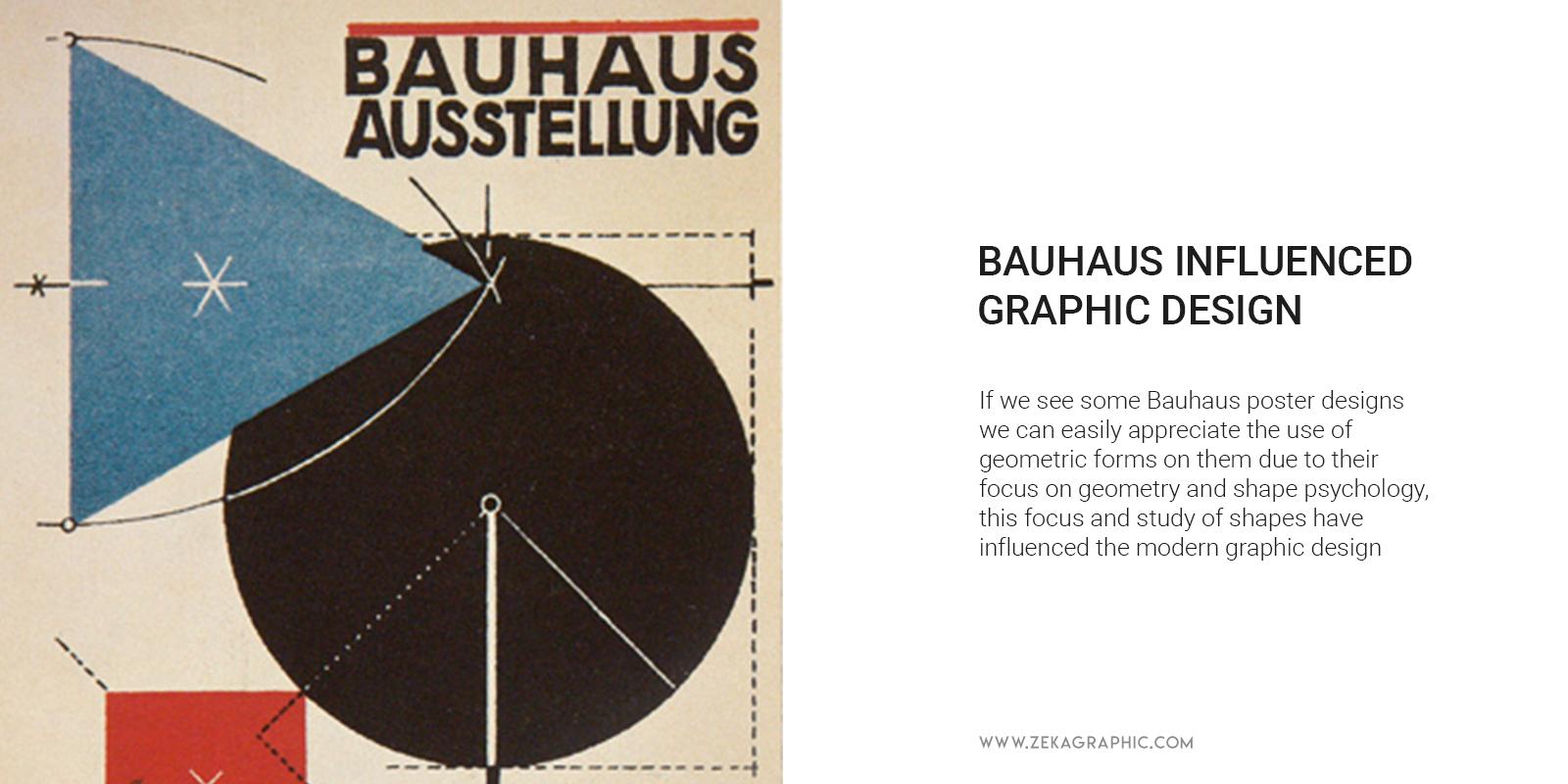 How Bauhaus influenced Graphic Design Geometric Shapes