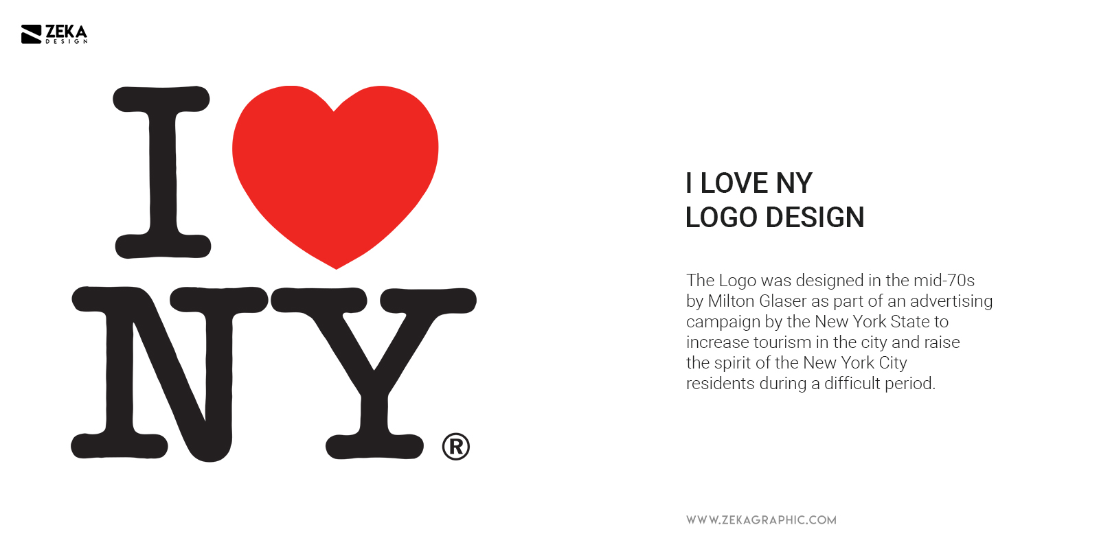I Love New York Logo Design History by Milton Glaser