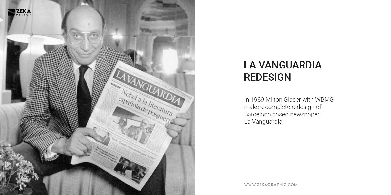 La Vanguardia Redesign By Milton Glaser