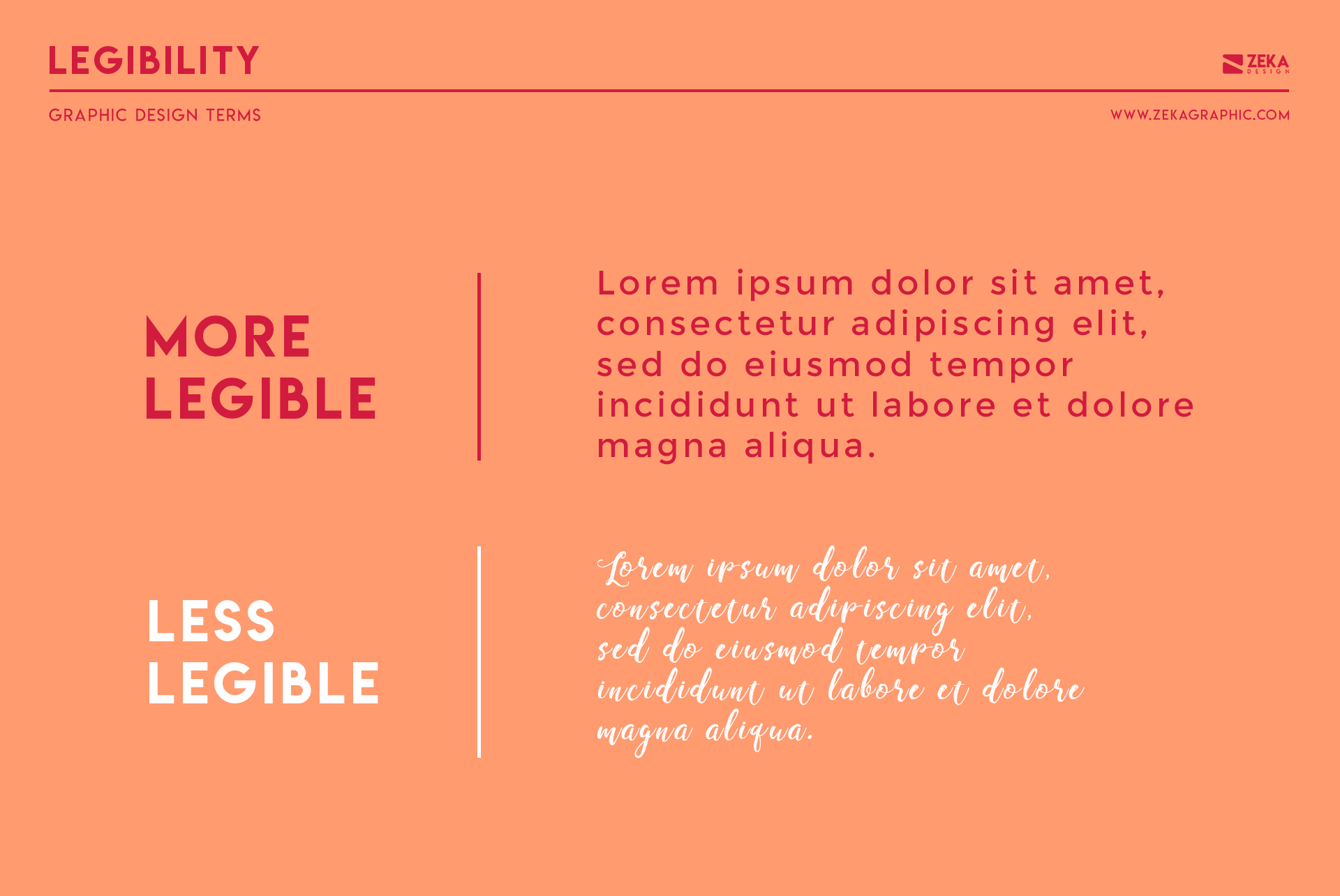 Legibility Graphic Design Terms about typography