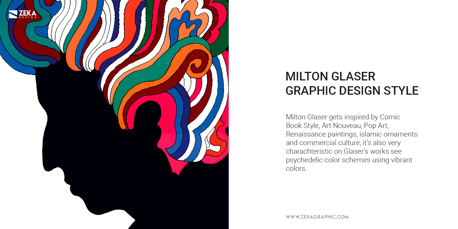 Milton Glaser Graphic Design Style and Inspiration