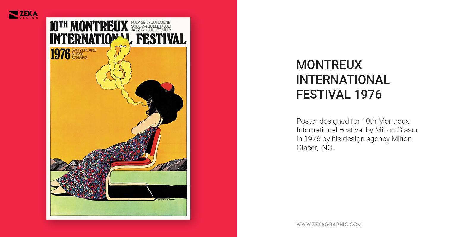 Milton Glaser INC Poster Design Inspiration Montreux Festival