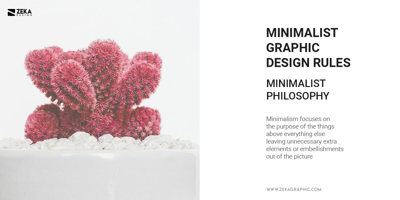 Minimalist Philosophy in Graphic Design