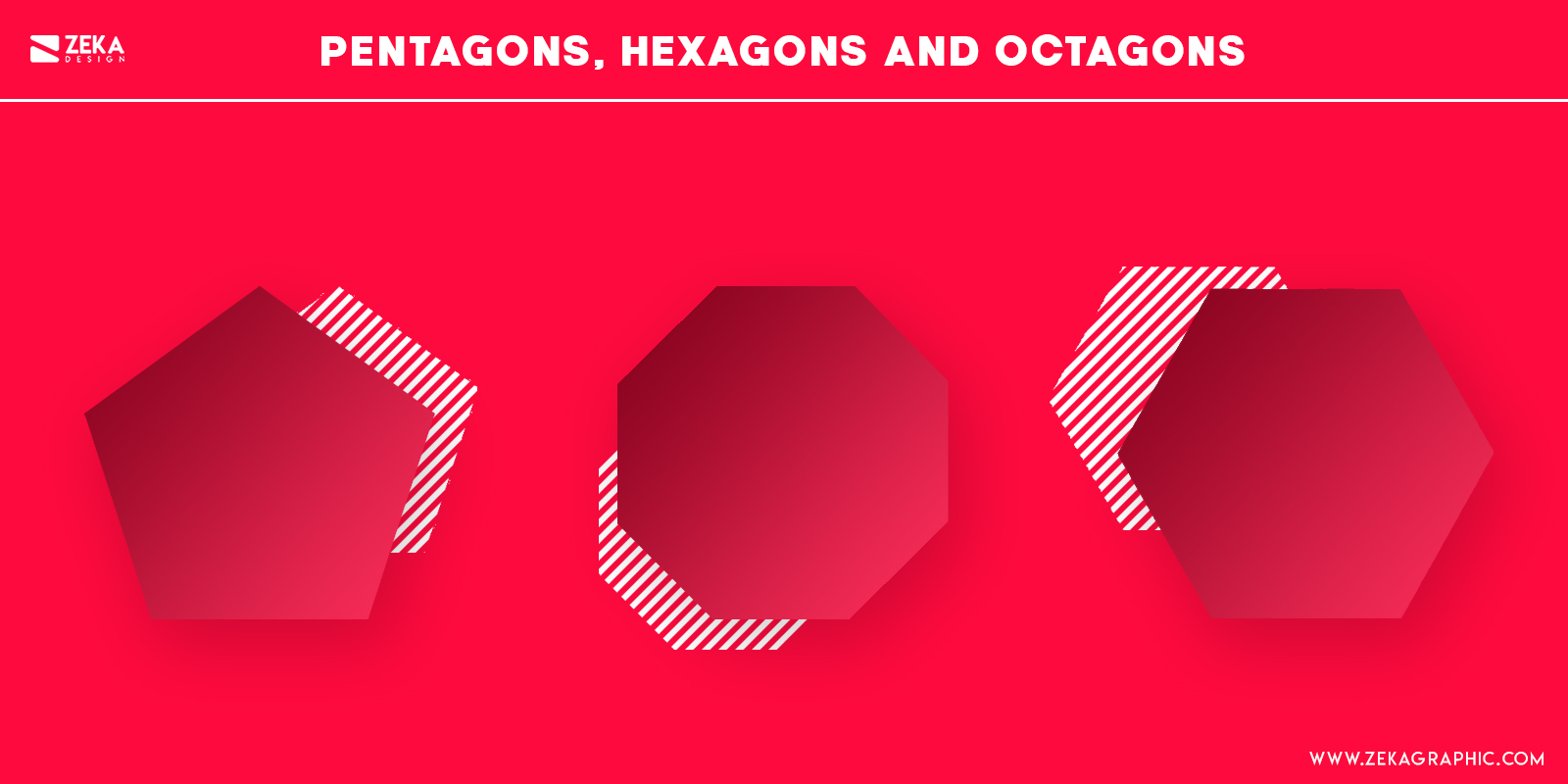 Pentagon Shapes Psychology in Graphic Design