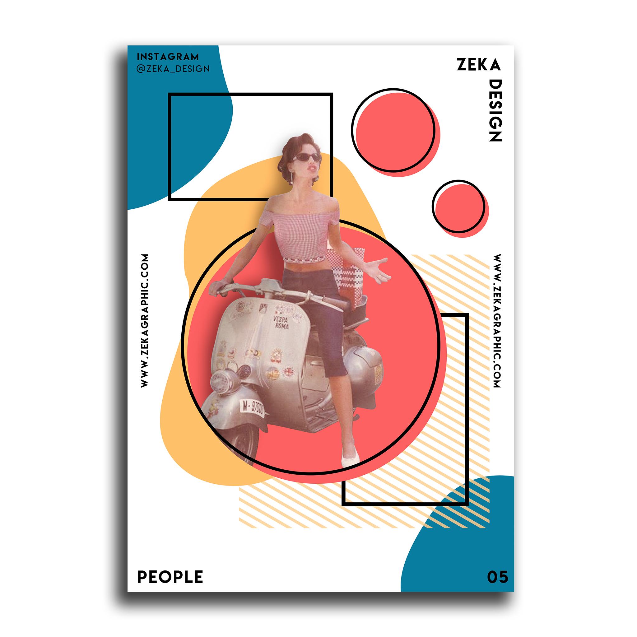 People Poster Design Collection Zeka Design