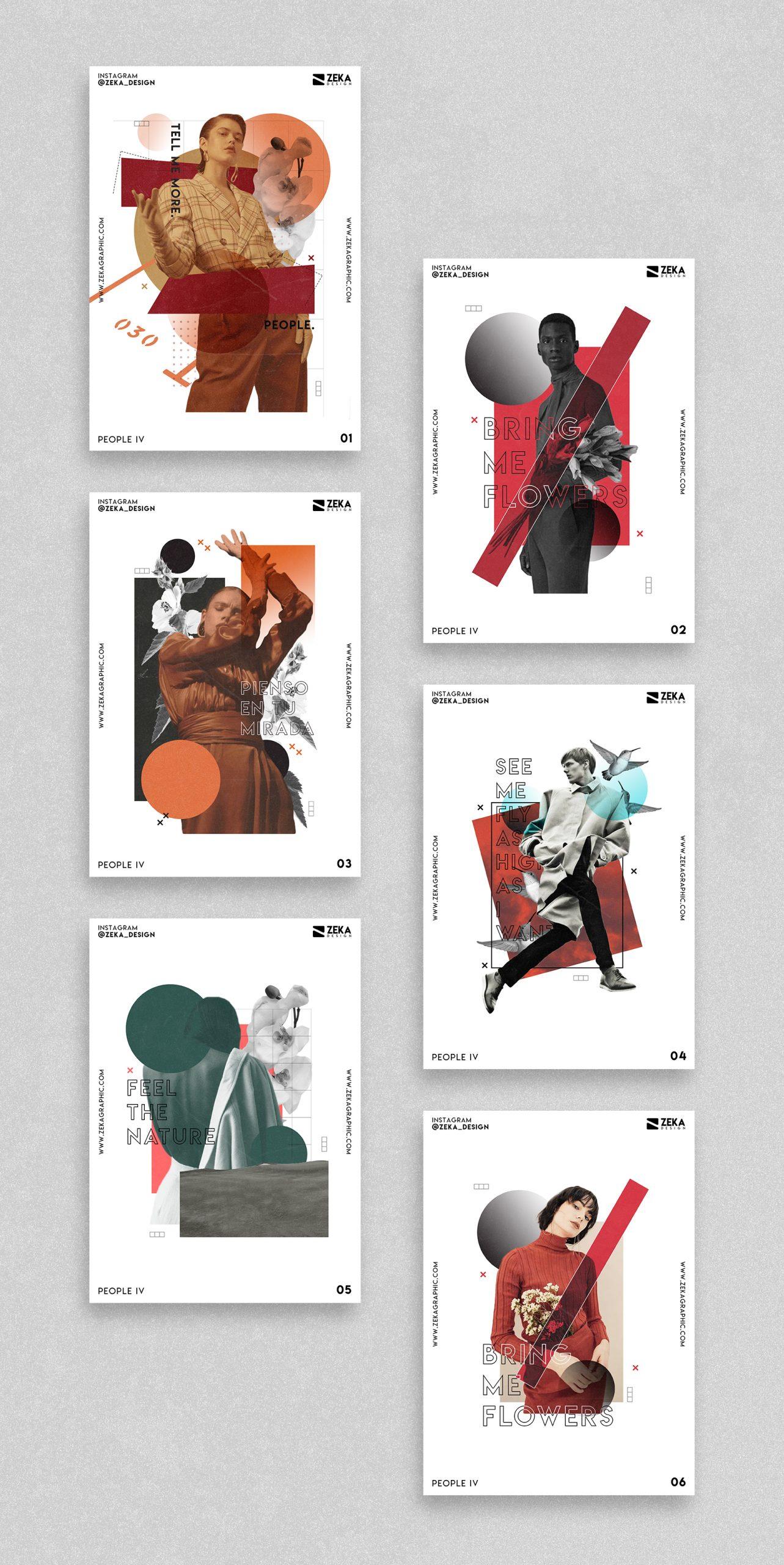 People 4 Poster Design Collection Zeka Design
