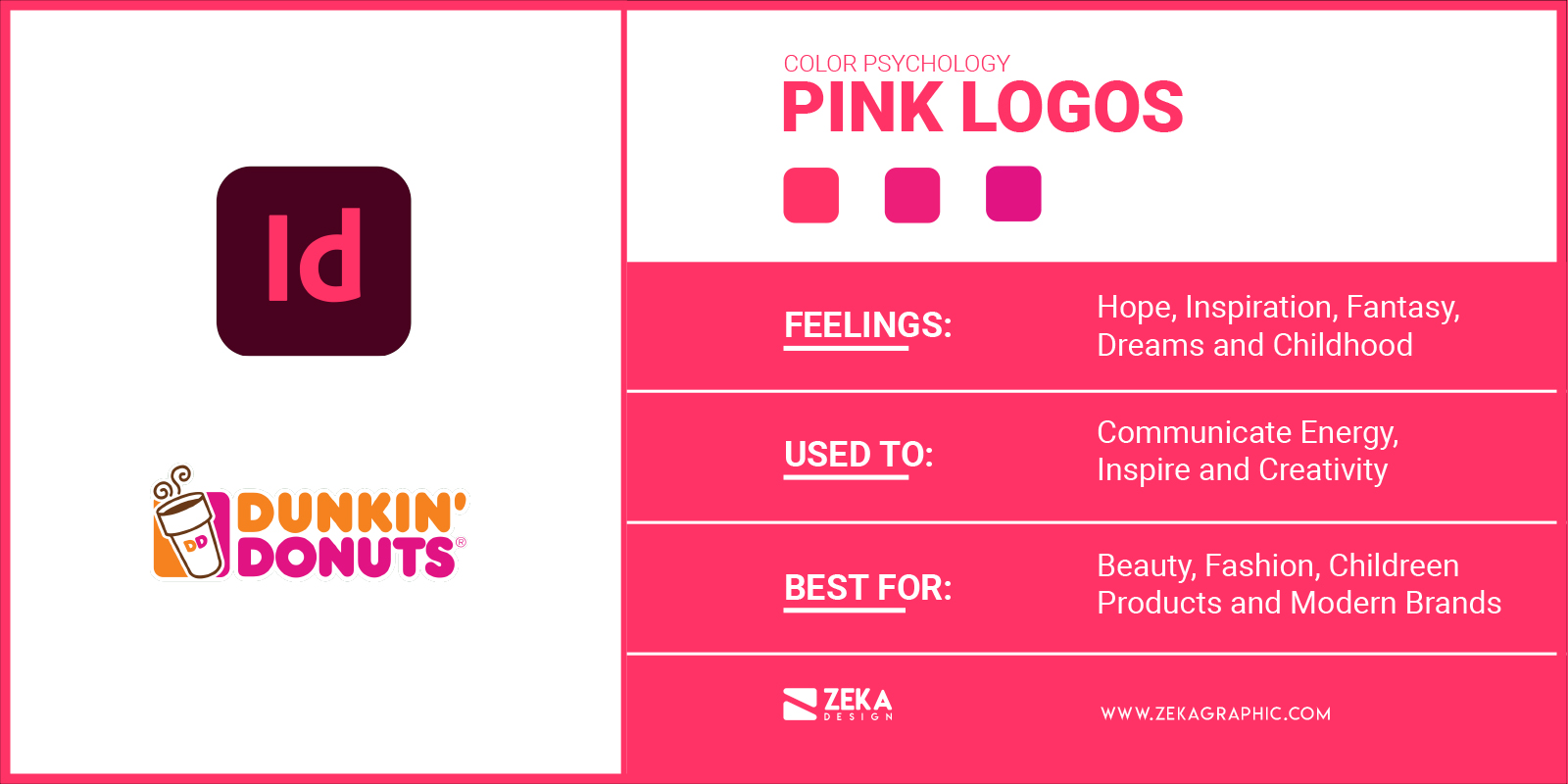 Pink Logos Meaning in Graphic Design