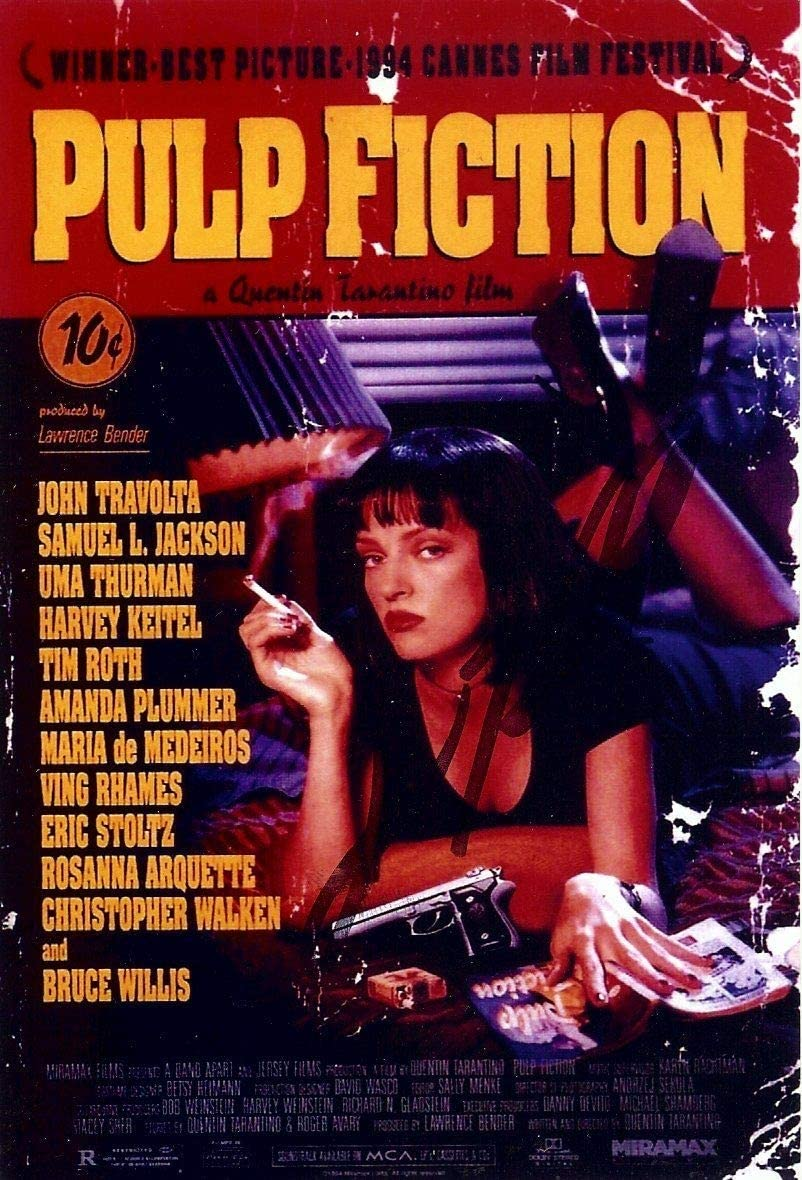 Pulp Fiction Movie Poster Design