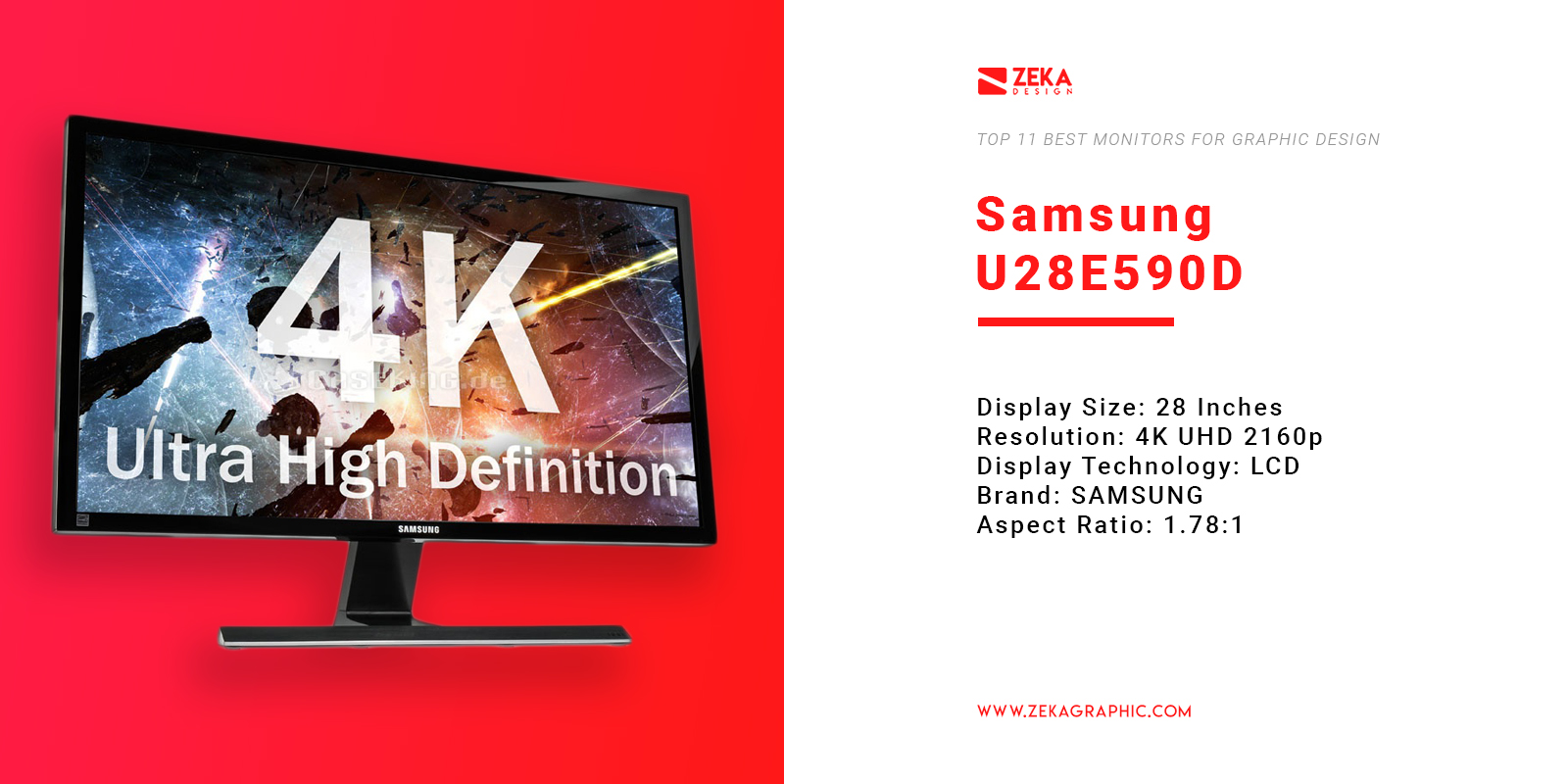 Samsung U28E590D 4K Monitor for Graphic Design