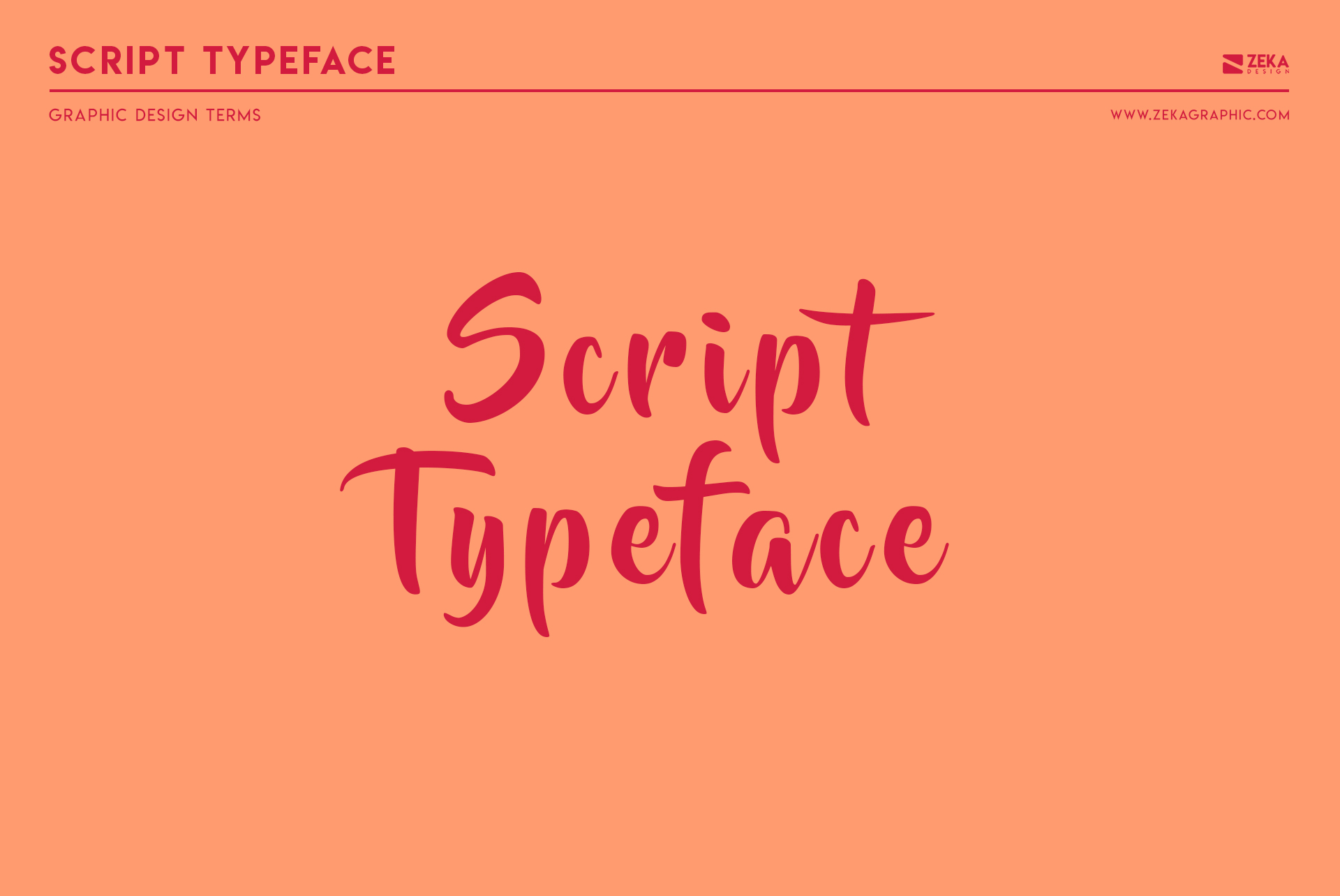 Script Typeface Graphic Design Terms