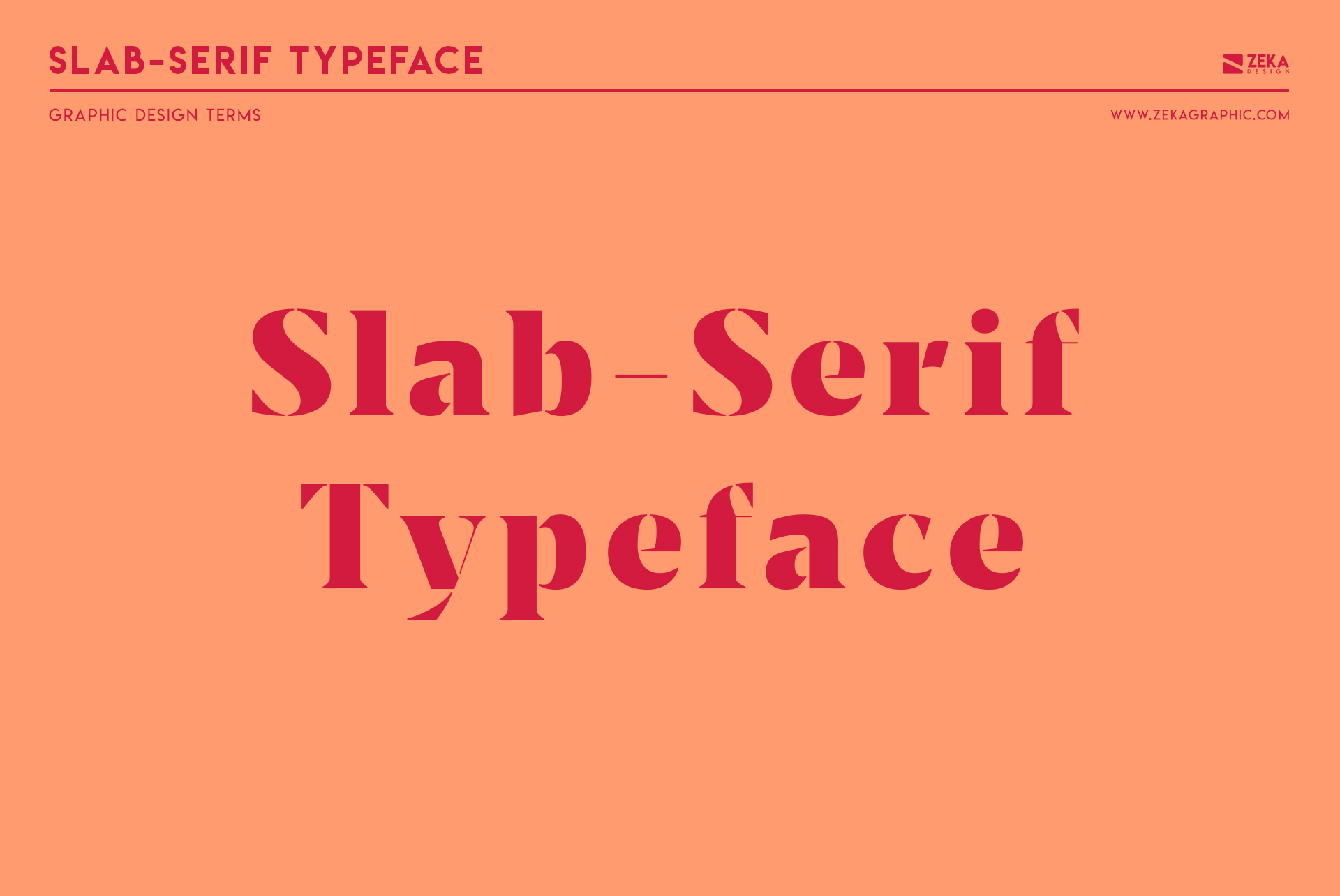 Slab Serif Typeface Graphic Design Terms about typography