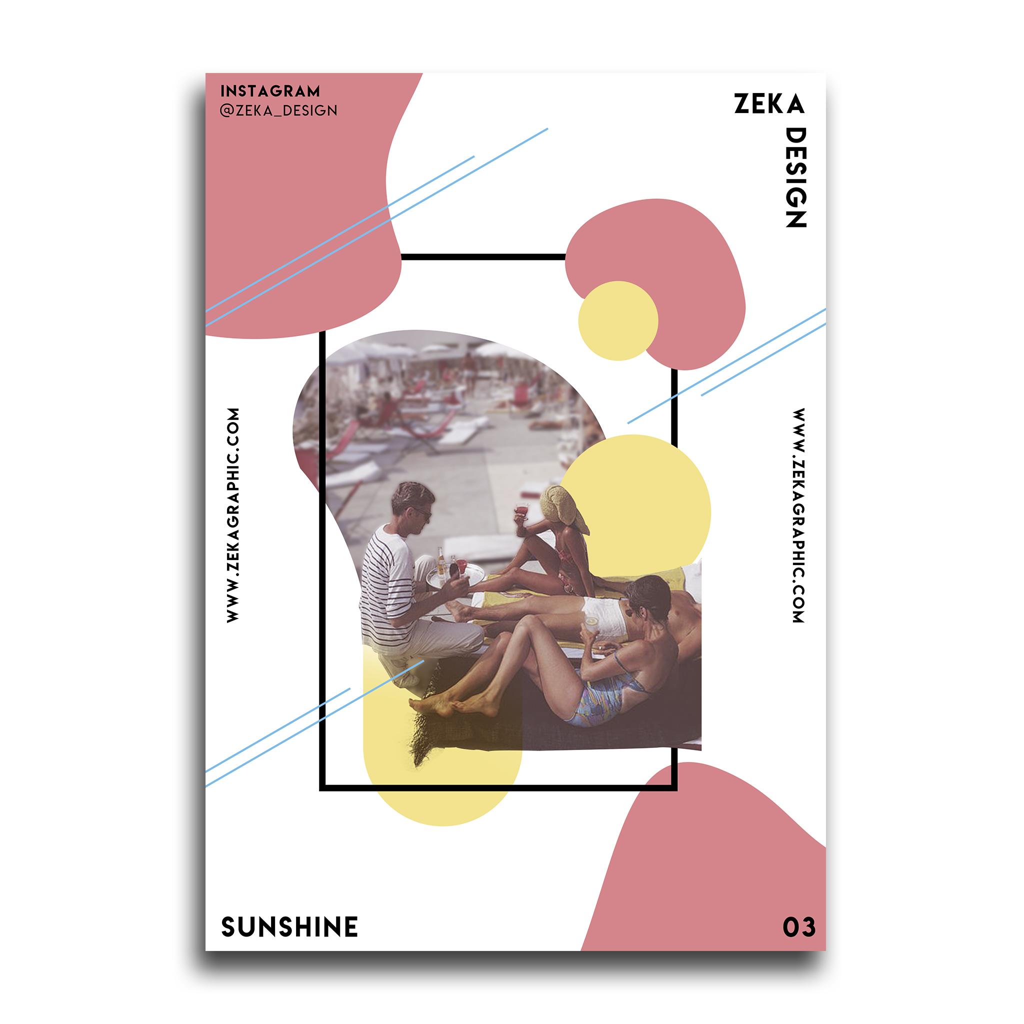 Sunshine Poster Design Collection Zeka Design