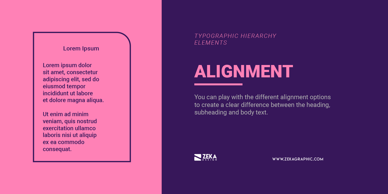 Text Alignment for Typographic Hierarchy in Graphic Design
