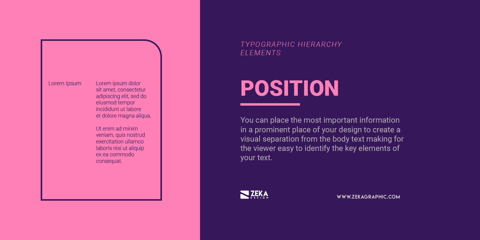 Text Position for Typographic Hierarchy in Graphic Design
