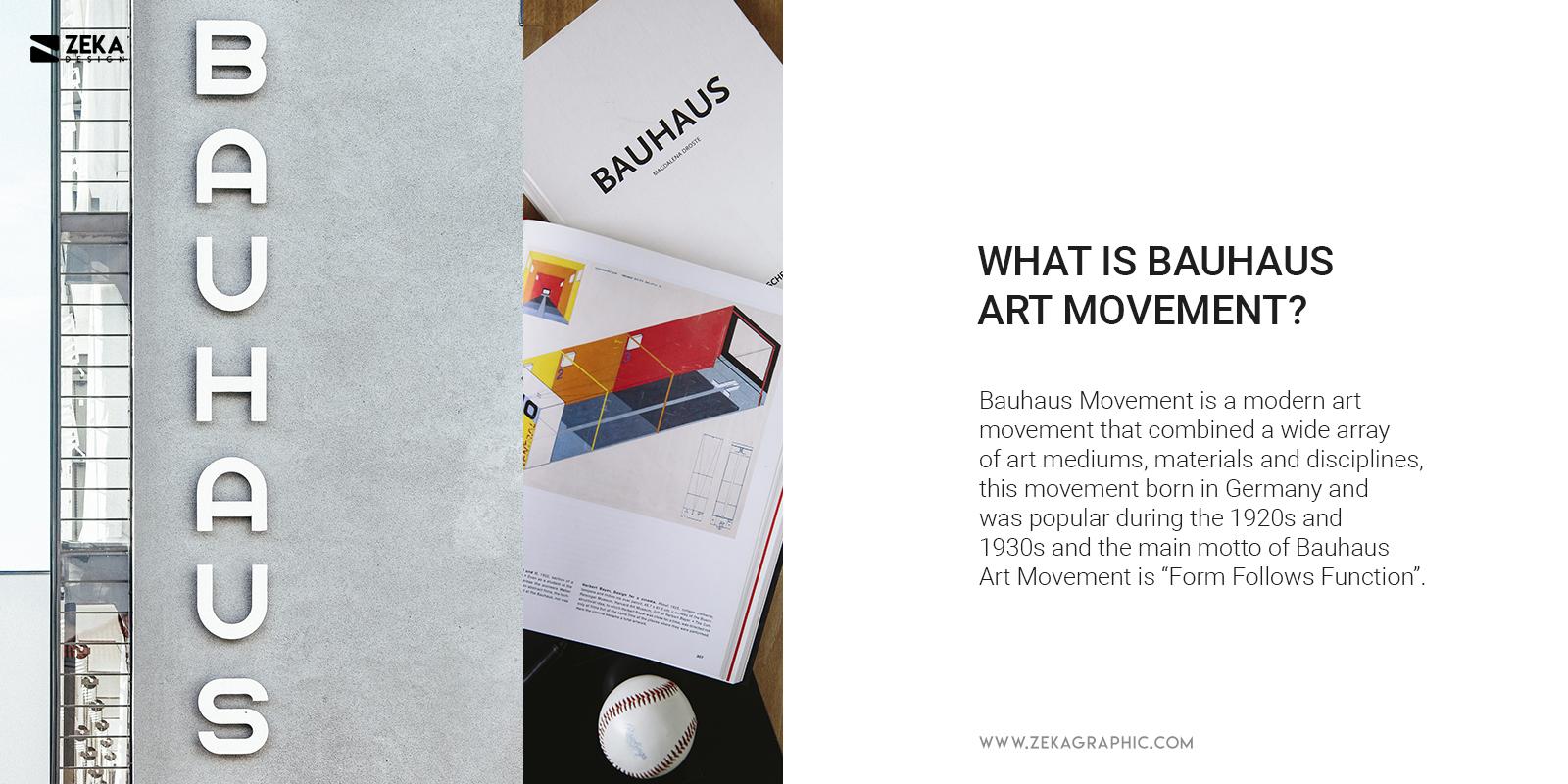 What is Bauhaus Art Movement History