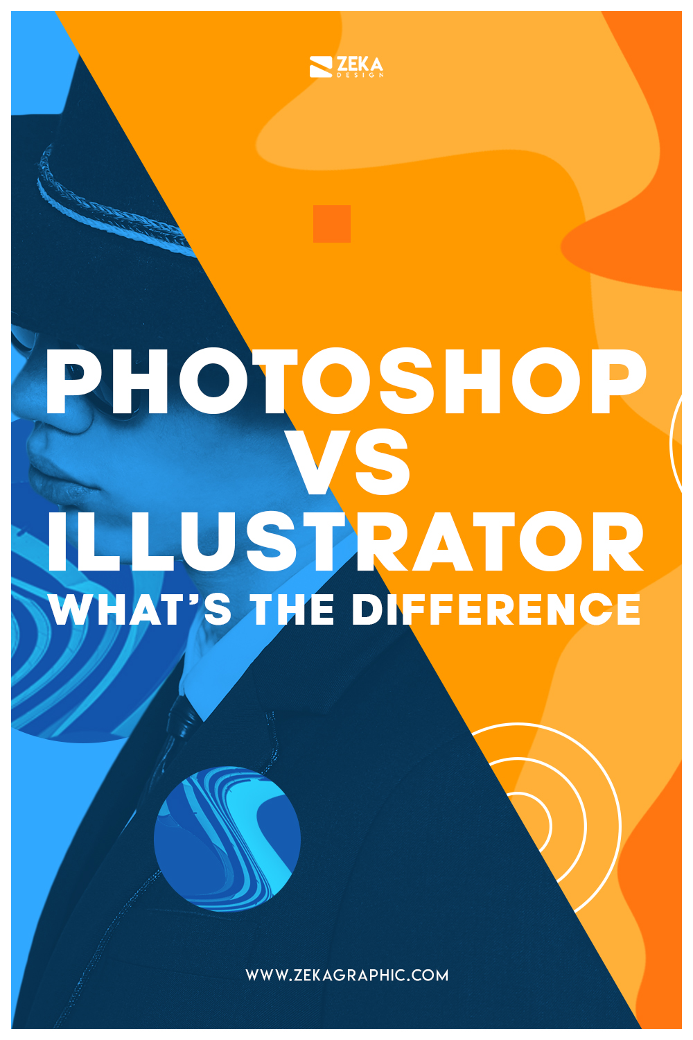 What is the difference between illustrator and photoshop