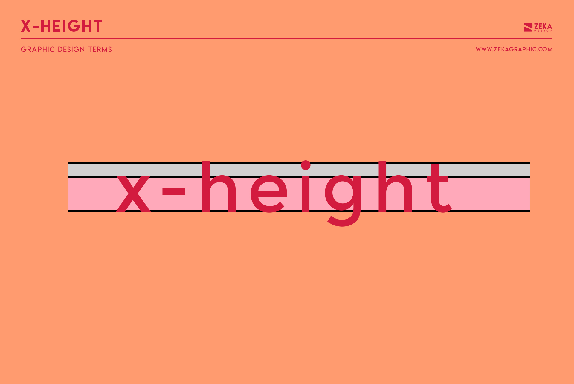 X Height Graphic Design Terms about typography