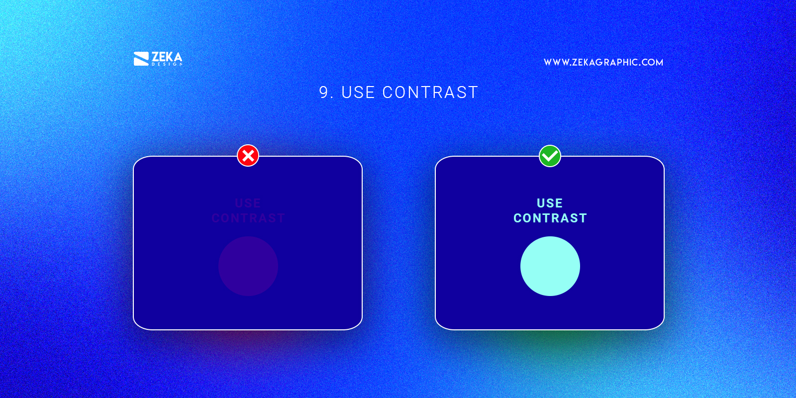 Use Contrast Graphic Design Tip To Become a Pro Graphic Designer