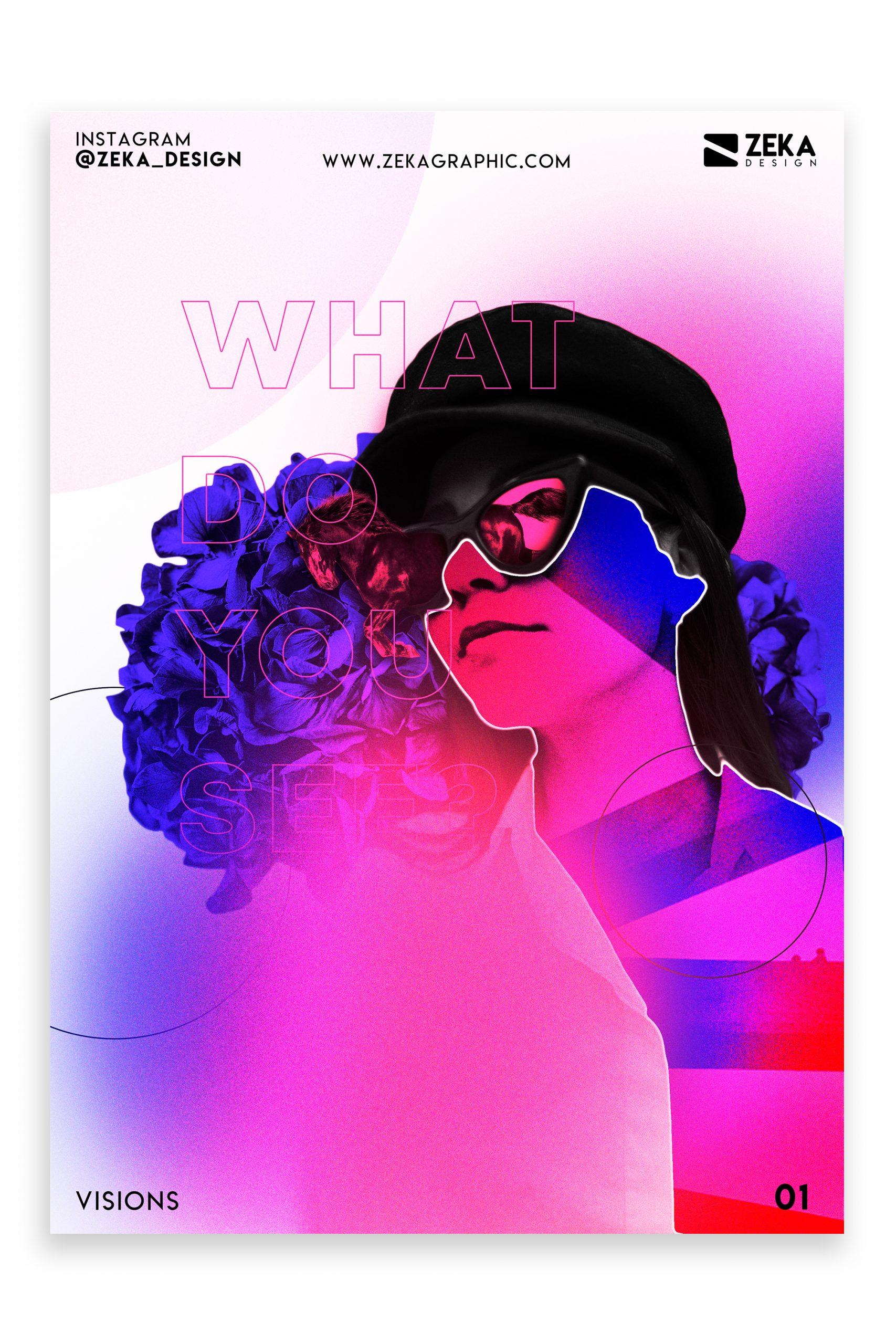 Visions Poster Design Inspiration Zeka Design Graphic Design Portfolio 1