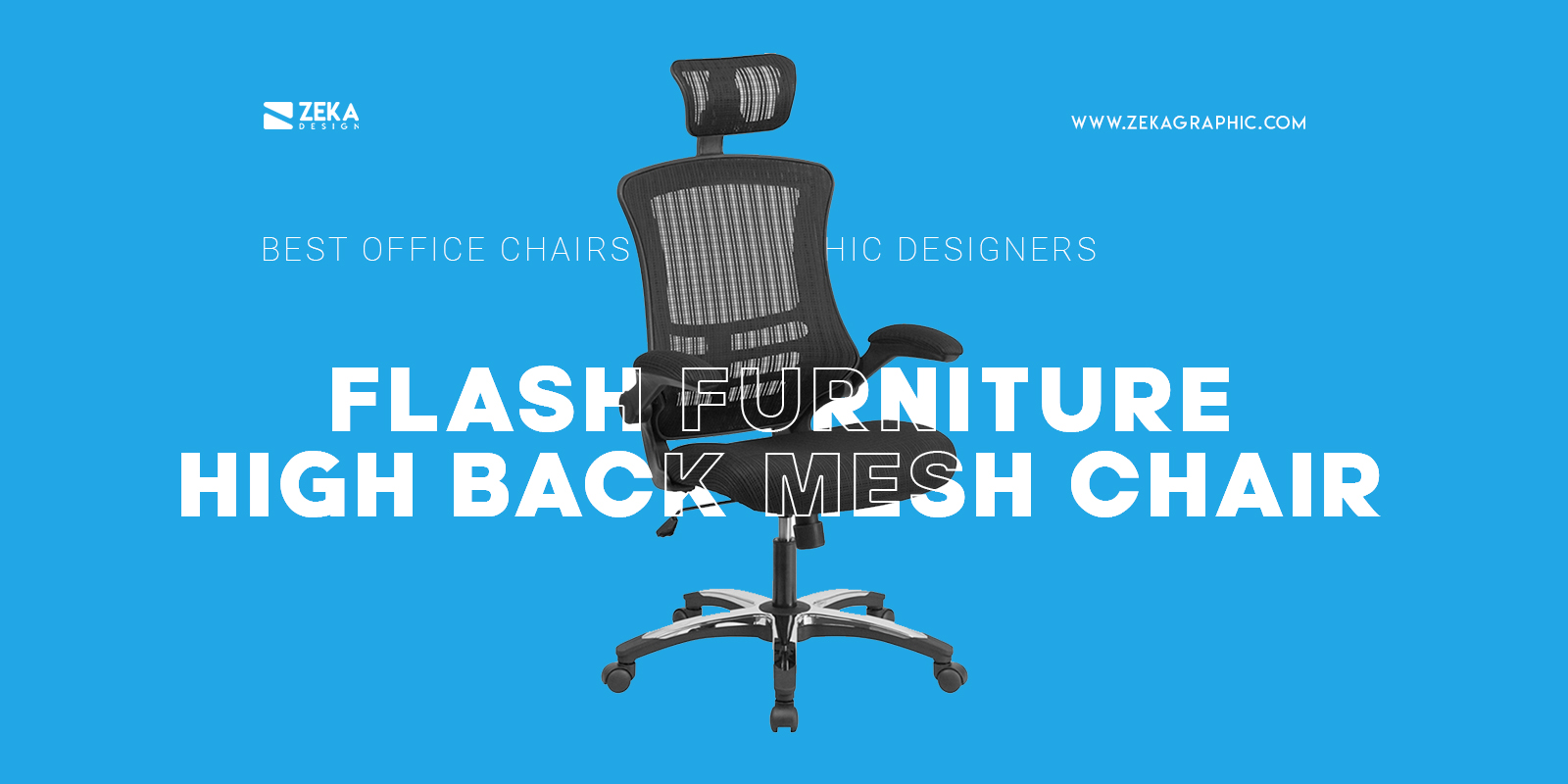 Flash Furniture High Back Mesh Chair For Graphic Designers