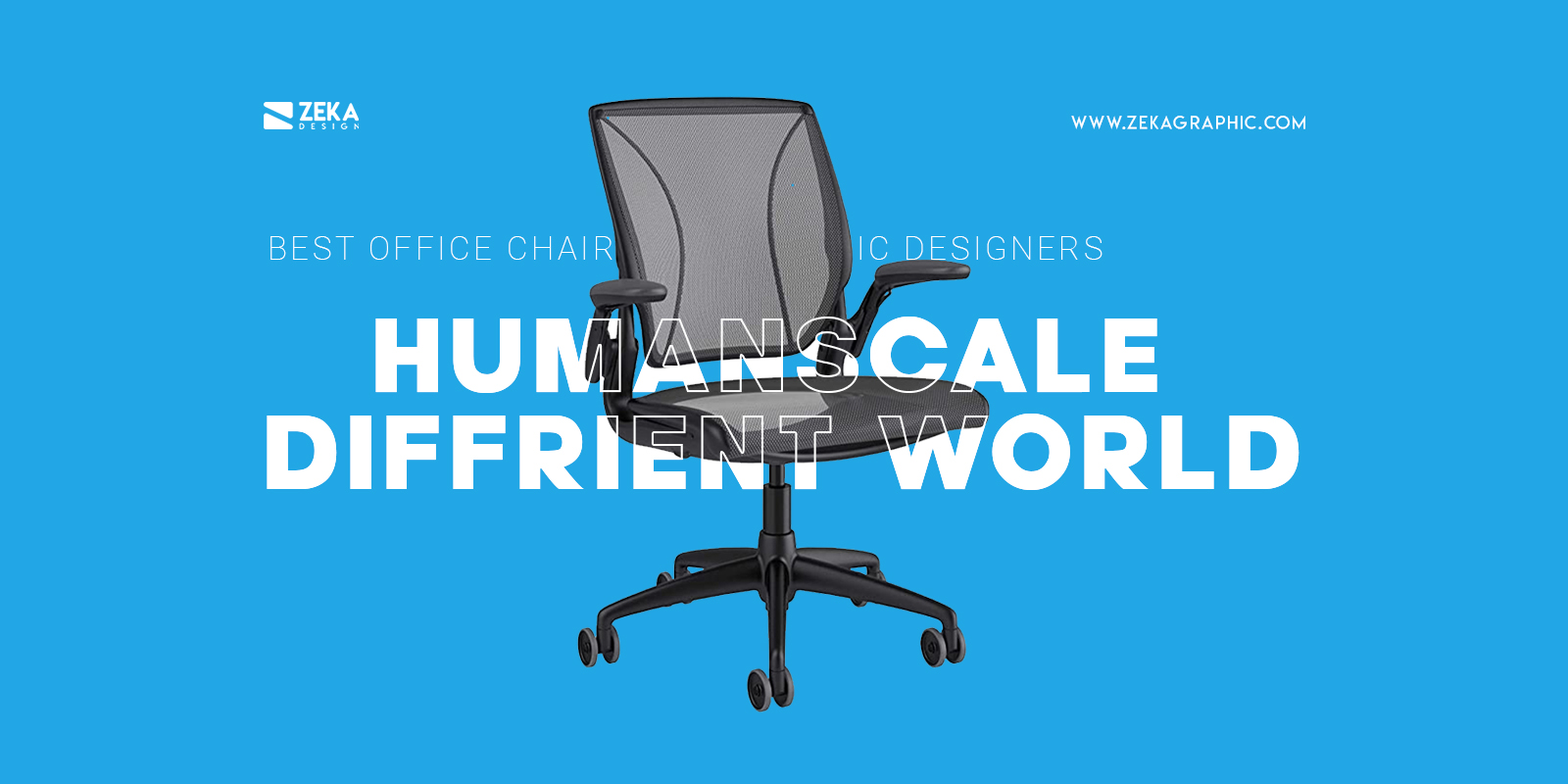 Humanscale Diffrient World Best Office Chair For Small Workspace Graphic Design