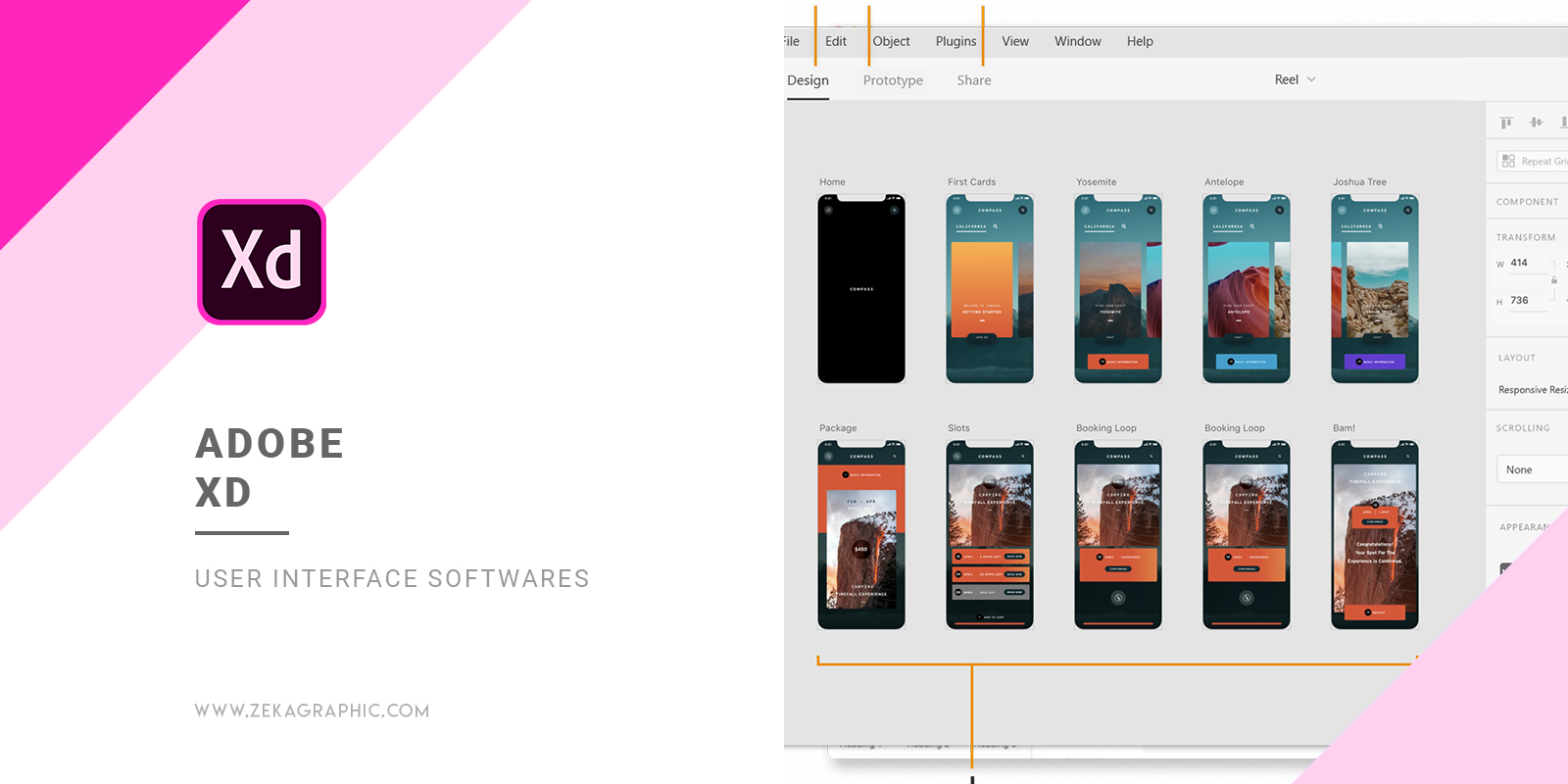Adobe XD User Interface Software for Graphic Design
