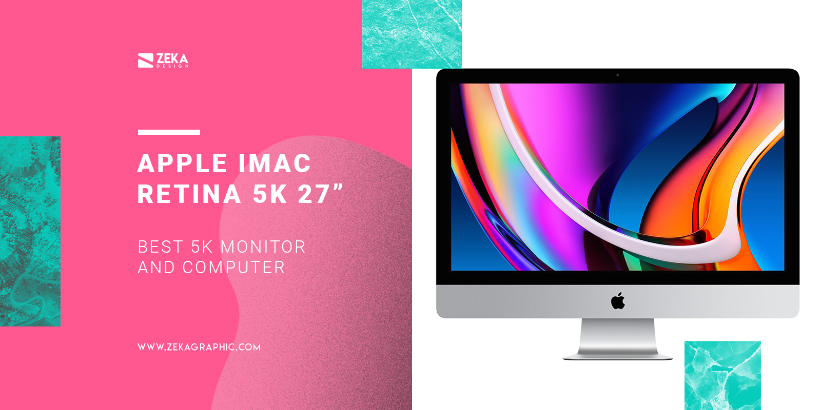 Apple iMac with Retina 5K 27-inch Best 5K Monitor and Computer for designers