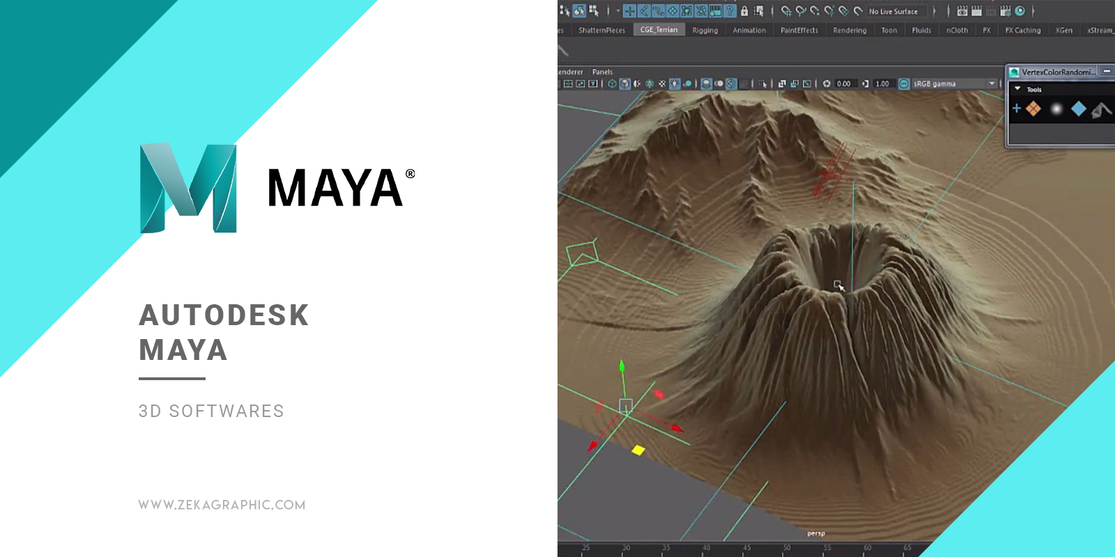 Autodesk Maya 3D Software for Graphic Design