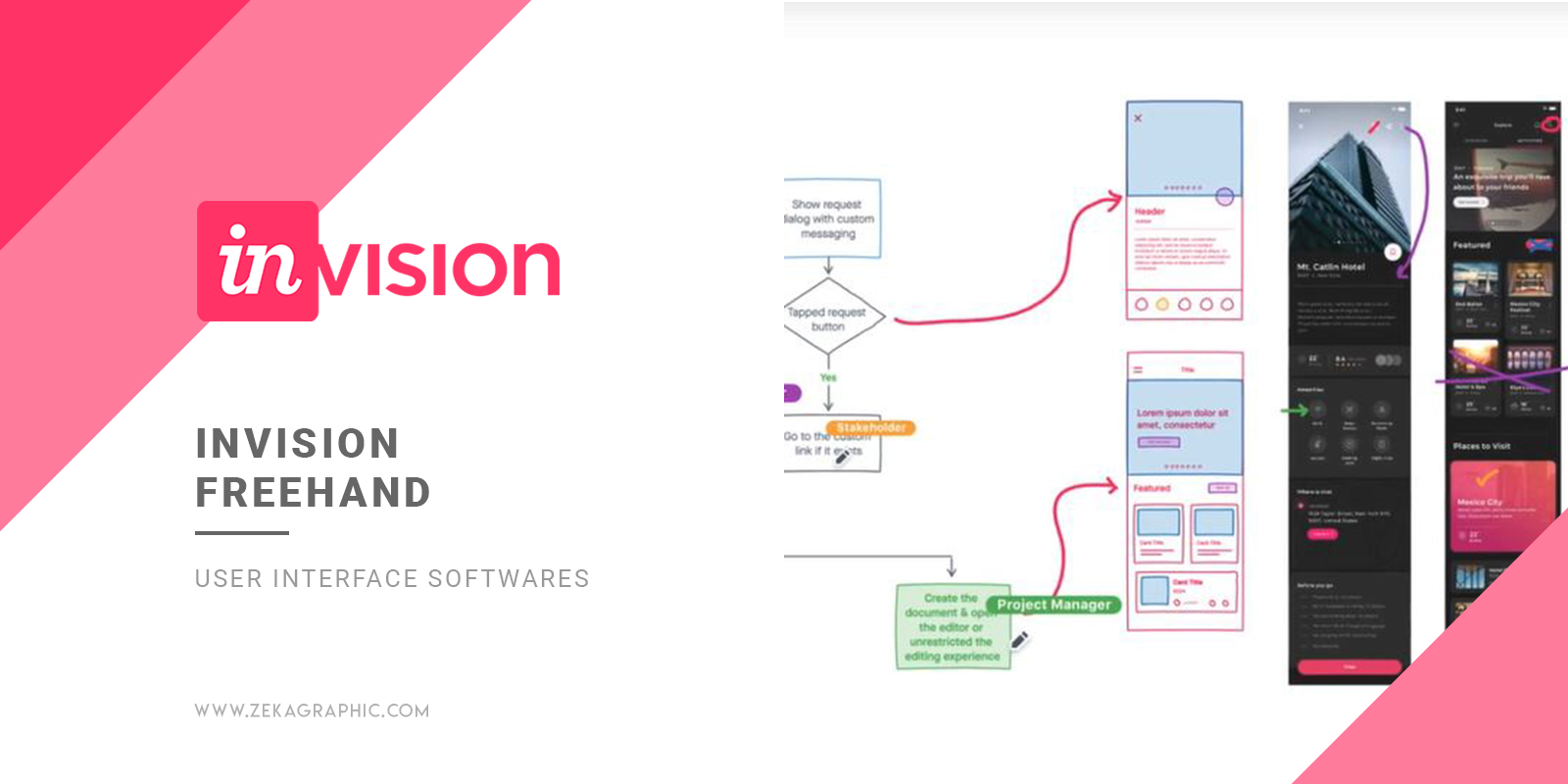 InVision Freehand User Interface Software for Graphic Design