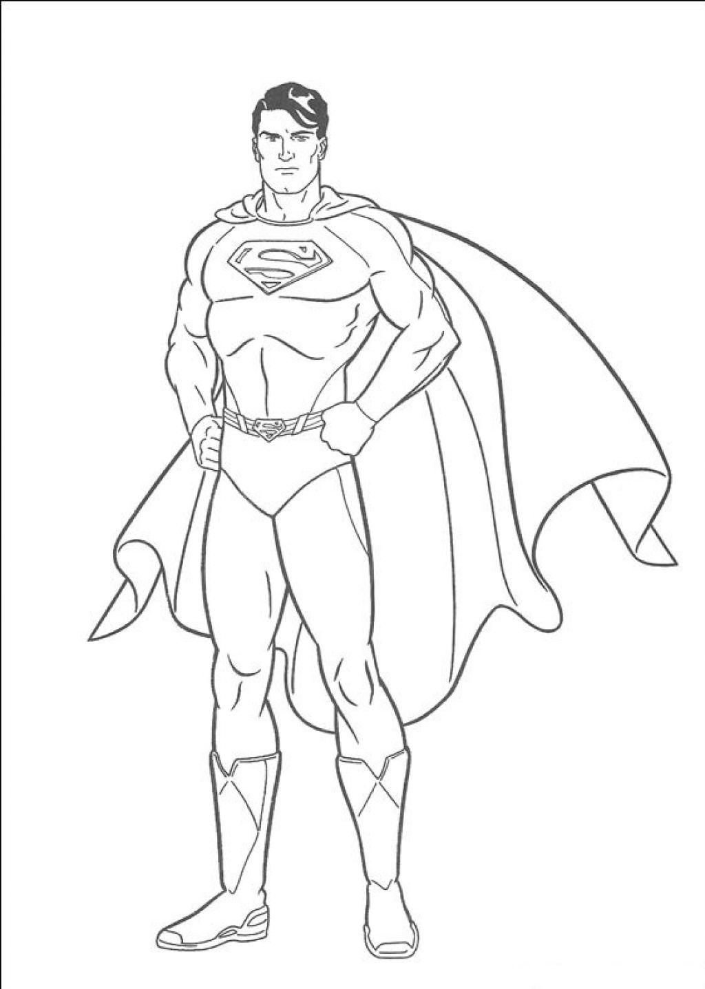 Superman Boyama Kağıdı Zeki öğretmen