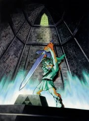 Link Pulls Master Sword