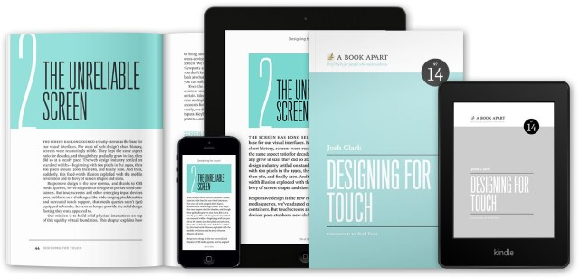 Designing For Touch, by Josh Clark, new from A Book Apart
