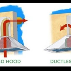 Kitchen Chimney Without Exhaust Pipe Remodeling Tampa Or Duct Zelect Ductless