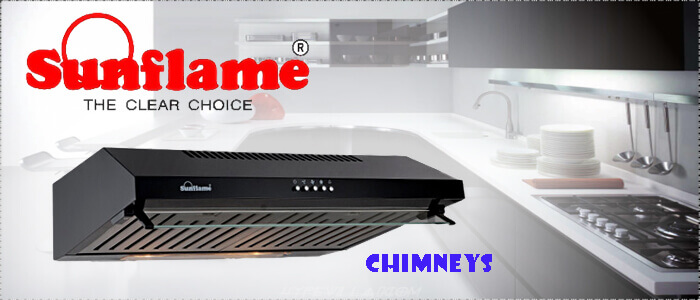 kitchen chimney without exhaust pipe sink strainer sunflame models best picks zelect size