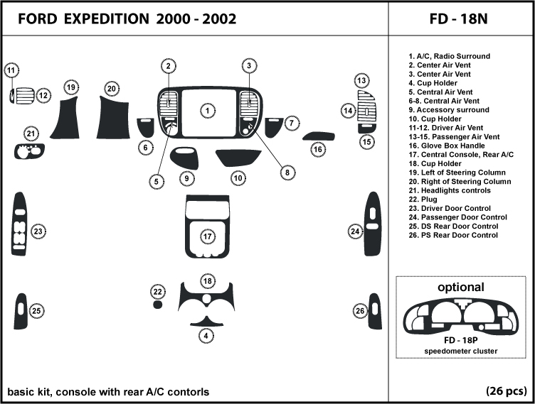2001 Ford Expedition Engine Diagram Of The Back A. Ford