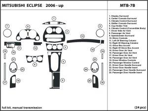 Dash Kit Trim for Mitsubishi Eclipse 0612 with manual