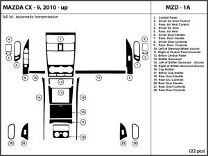 Mazda CX9 CX9 20102011 automatic transmission Dash Kit