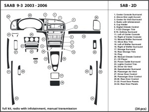 Saab 93 20032006 radio w infotainment manual